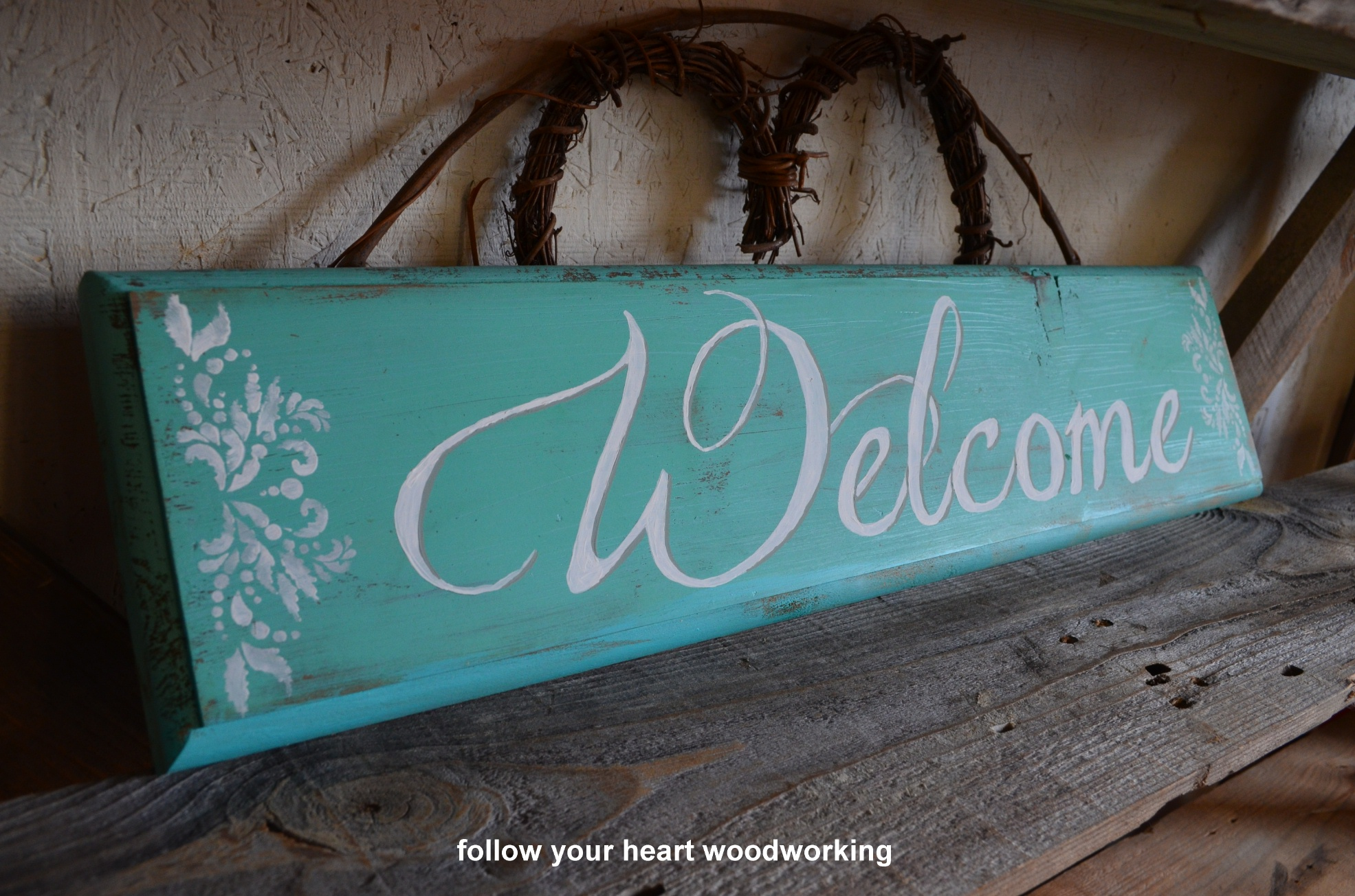 0936 Welcome with stencil