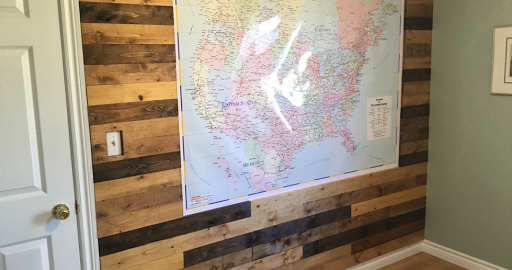 Wood Wall in Office