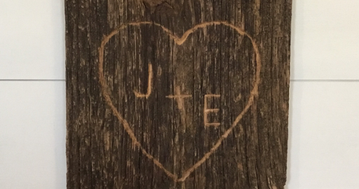 Carved Heart and Initials
